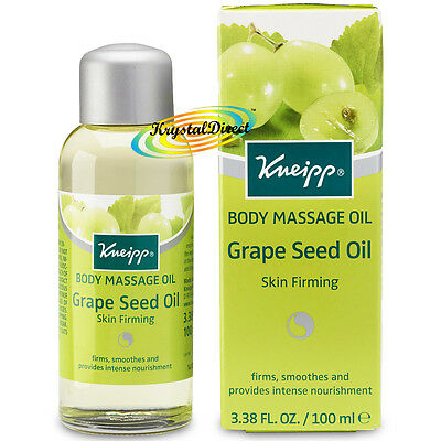Kneipp Massage Oil GRAPE SEED OIL Skin Firming 100ml