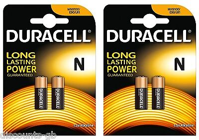 4 x DURACELL MN9100 LR1 BATTERY 9100 KN N e90 Type 1.5v  GARAGE REMOTE CAR ALARM