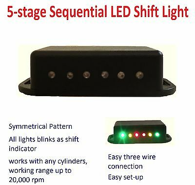 Sequential LED Shift Light 5-stage