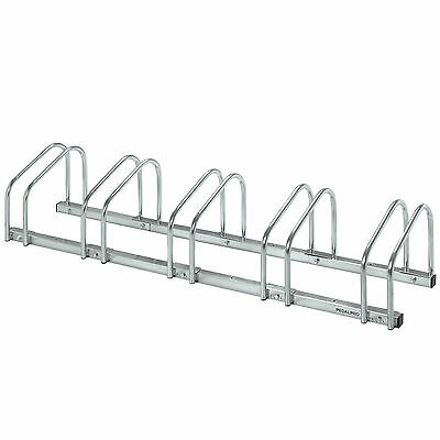 Pedalpro 5 Bicycle Floor/wall Mount Storage Rack Bike/cycle Locking/garage Stand