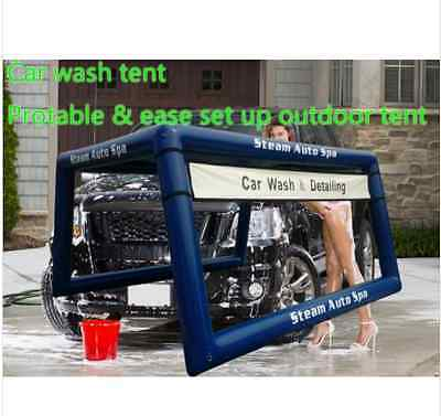 Car wash washing tent mobile portable tent inflatable detailing steam auto spa