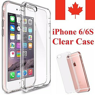 For iPhone 6S & iPhone 6 Case - Clear Thin Soft TPU Silicone Back Cover