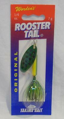 Wordens Yakima Bait 1/4 oz Frog Spot Rooster Tail Spinning Fishing Lure