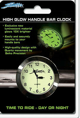 Streetfx Superglow Handlebar Clock (Chrome)