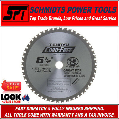 "TENRYU 48T 6-1/2"" 165mm METAL CUTTING CIRCULAR SAW BLADE CF-16548M SUITS BSS611"