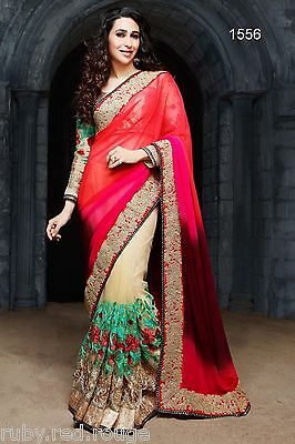 Designer Indian PAkistani Bollywood Elegant PArty Bridal Wedding saree Sari