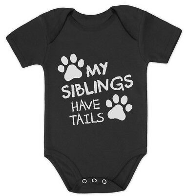 My Siblings Have Tails Funny One-piece Infant Bodysuit Baby Bodysuit Gift Idea