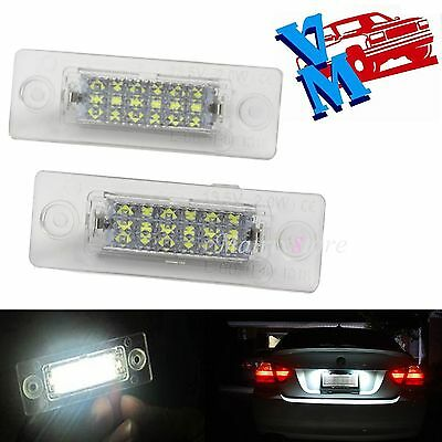 2x Rear LED Number License Plate Light For VW Touran Golf Passat Jetta Caddy T5