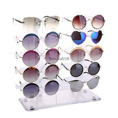 Acrylic Detachable Sunglasse Eyeglasses Holder Display Rack Show Case Stand Rack