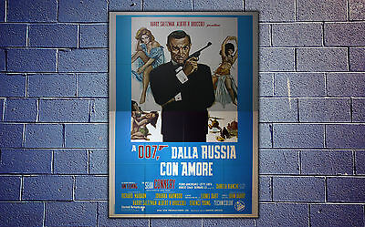 Original Movie Posters James Bond 007 From Russia 140 x 200 CM - Sean Connery