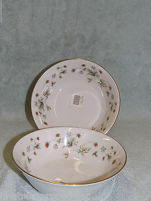 Royal Doulton China Strawberry Cream 2 Soup Cereal Bowls