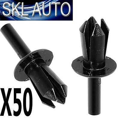 50x FOR BMW 8mm Plastic Rivet Clips Trims, Wheel Arch Liner / Lining & Moudlings