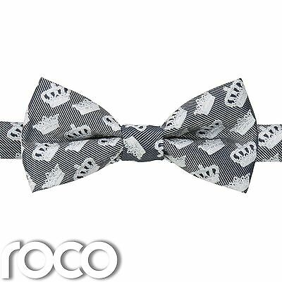 Boys Navy Dickie Bow, Crown Bow Tie, Patterned Bow Ties, Navy Accessories