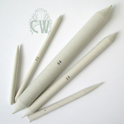 Paper Stumps & Tortillons Set of 5. For Blending Pastel Pencil & Charcoal