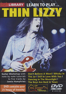 Learn to Play Thin Lizzy Lick Library Guitar DVD Tuition Method How