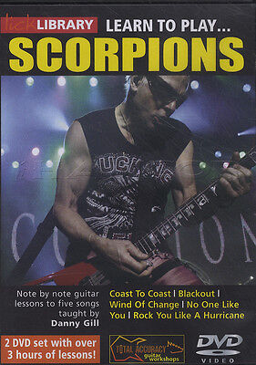 Learn to Play The Scorpions Lick Library Guitar 2 DVD Set Tuition Method How
