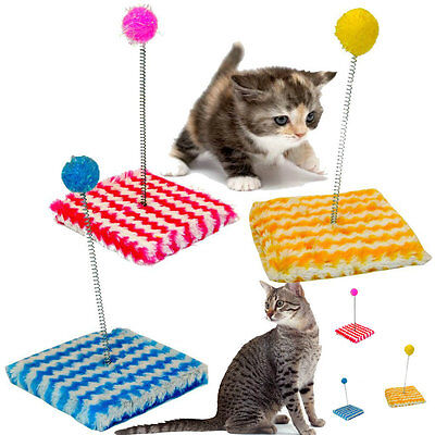 Kitty Sway Fun Play Toy For Cat Pole Ball Activity Post Pet Teaser Pet2802 • EUR 3,28