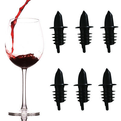 6pk Bar Pro Bottle Pourers Wine Spouts Liquor Stoppers Alcohol Oil Covers Bar