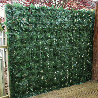 Artificial Ivy Leaf Hedge Panels On Roll Privacy Screen Garden Fence 1.5m x 3m
