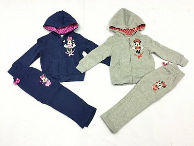 Disney Minnie Mouse Girls 2pc Jogging/Tracksuit Set, Sizes From 3-8 Years