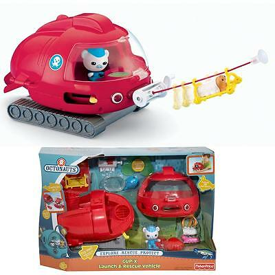 NEW Octonauts GUP-X Launch & Rescue Vehicle Fisher-Price Octo Tank Glider CHOP