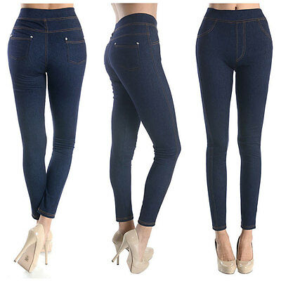 SOFRA Ladies Jeans Leggings Stretchable Soft Comfortable Skinny Fit Pants