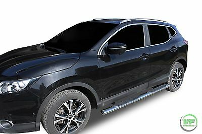 "Nissan Qashqai 2014-2018  4""oval SIDE BARS LUXURY CHROME SIDE STEPS  PAIR"