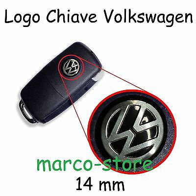 Logo Stemma Badge 14mm Chiave VW Polo Golf Passat Beetle Touareg Touran Sharan