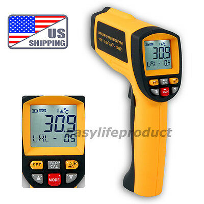 US 50:1 Digital Infrared Thermometer 0.1~1EM Pyrometer 1350°C 2462°F Pro IR