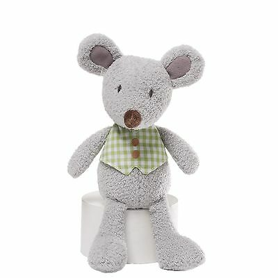 Gund Mini Meadow Plush Soft Toy Rattle For Babies ~ Mossly Mouse