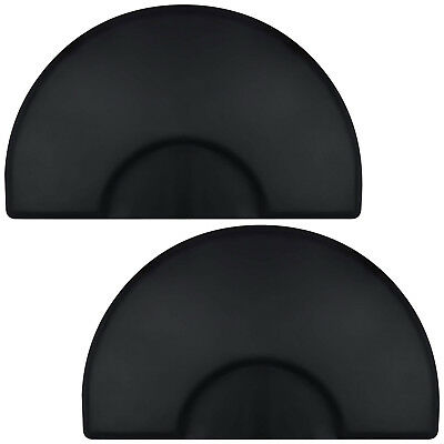 "3' x 5' Semi Circle Anti-Fatigue Salon Chair Floor Mat - 1/2"" Thick - 2 Pack"