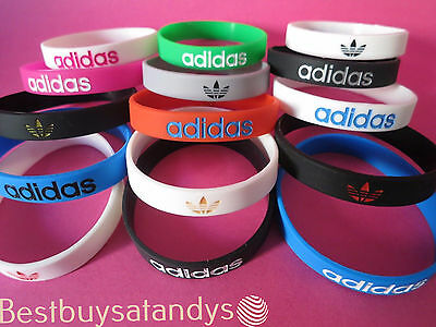 3D Adidas Sports Silicone Wristbands Bracelets Baller Bands FREE SHIPPING