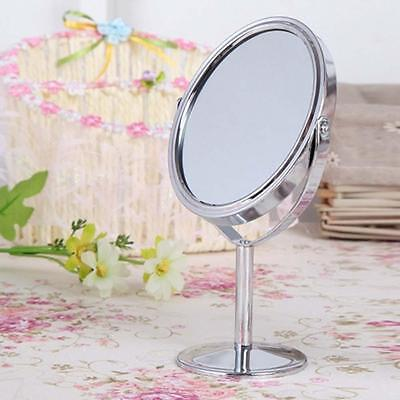 Women Makeup Cosmetic Mirror Double Sided Normal Magnifying Stand Mirror Gift AD