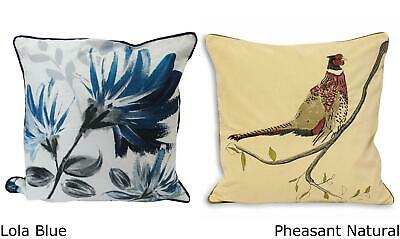 100% Cotton Cushion Covers Scatter Cushion Case Luxury Modern Floral Design Bird