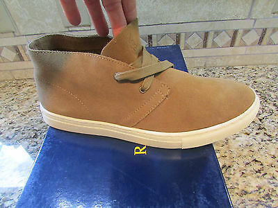 New Polo Ralph Lauren Joplin Cognac Suede Chukka Boots Shoes Mens 9.5  Sneakers
