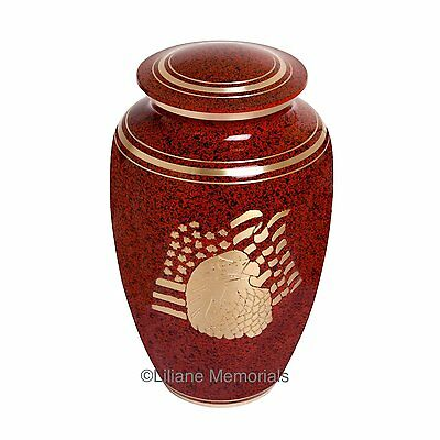 Adult Red Cremation Urns, Large New Funeral Urn For Human Ashes,