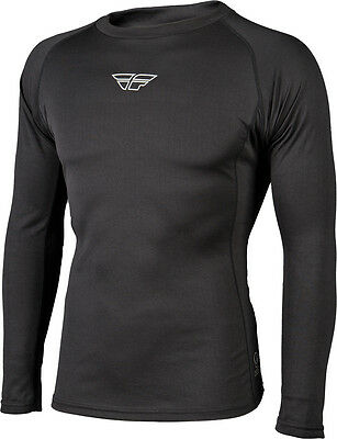 Fly Racing Base Layer L/s Heavy Top Black Xs