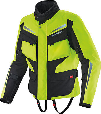 Spidi Voyager H2 H2Out Jacket Hi-Viz Yellow/black 2X
