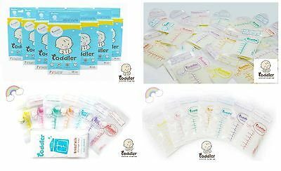 Toddler Breast Milk Storage Bags with Triple Ziplocks BPA Free Pre Sterilised