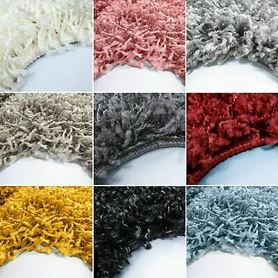 X Large Small Size Soft Shaggy Thick Plain Rug Carpet  Non Shed Pile Modern Rugs