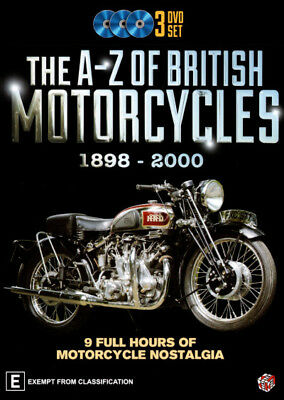 The A - Z Of British Motorcycles 1898 - 2000 (3 Discs, 9 Hours) DVD R4 New!