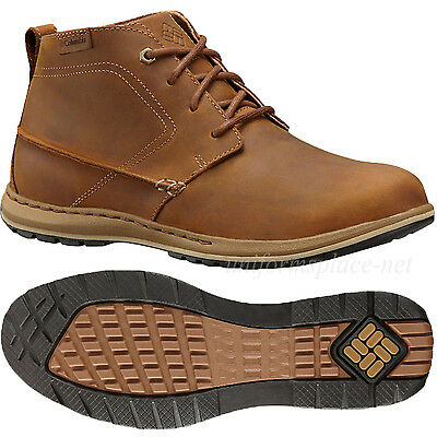 Columbia Shoes Mens Davenport Nubuck Leather Lace up Chukka Boot YM5138 Brown
