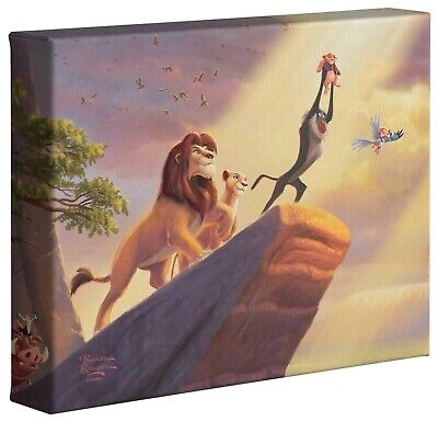 Thomas Kinkade Disney The Lion King 8 x 10 Gallery Wrapped Canvas