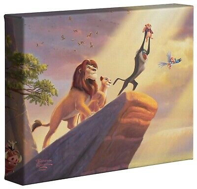 Thomas Kinkade Lion King 8 x 10 Gallery Wrapped Canvas Disney