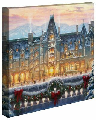 Thomas Kinkade Christmas at Biltmore 14 x 14 Gallery Wrapped Canvas Spring Sale