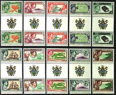 Pitcairn Islands Amazing New Coat Of Arms Gutter Pairs Mnh