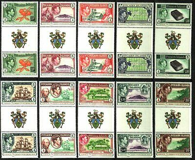 Pitcairn Islands Amazing<New>Coat Of Arms Gutter Pairs Mnh