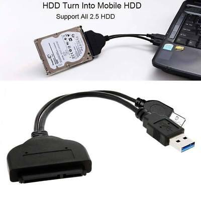 """USB 3.0 to SATA 22 2.5"""" 15+7 Pin Hard Disk Drive Cable Adapter Connector Cable"""