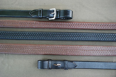 NWT Black Oak by KL Select Pony Rubber Reins Black Buckle End 48""