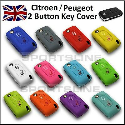 Key Cover For CITROEN / PEUGEOT 2 Button Flip Case Remote Fob Protector Car 1